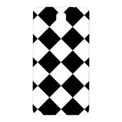 Grid Domino Bank And Black Samsung Galaxy Note 3 N9005 Hardshell Back Case