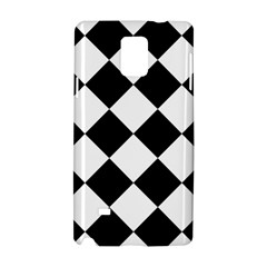 Grid Domino Bank And Black Samsung Galaxy Note 4 Hardshell Case