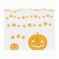 Pumpkin Halloween Deco Garland Small Glasses Cloth