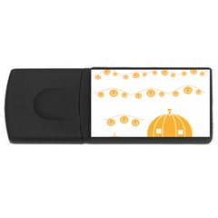 Pumpkin Halloween Deco Garland Rectangular Usb Flash Drive