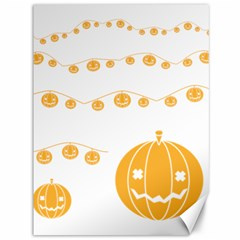 Pumpkin Halloween Deco Garland Canvas 36  X 48