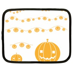 Pumpkin Halloween Deco Garland Netbook Case (xl)  by BangZart