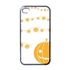 Pumpkin Halloween Deco Garland Apple Iphone 4 Case (black)