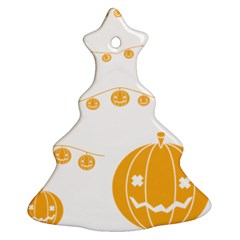 Pumpkin Halloween Deco Garland Christmas Tree Ornament (two Sides)