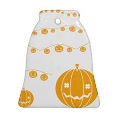Pumpkin Halloween Deco Garland Bell Ornament (two Sides)