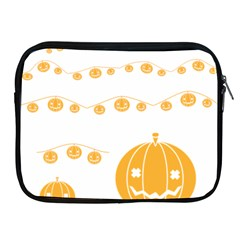Pumpkin Halloween Deco Garland Apple Ipad 2/3/4 Zipper Cases