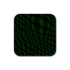 Pattern Dark Texture Background Rubber Square Coaster (4 Pack)