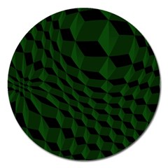 Pattern Dark Texture Background Magnet 5  (round)