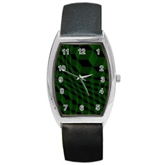 Pattern Dark Texture Background Barrel Style Metal Watch