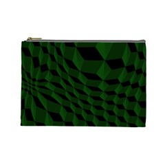 Pattern Dark Texture Background Cosmetic Bag (large)