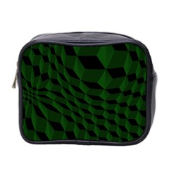 Pattern Dark Texture Background Mini Toiletries Bag 2 Side