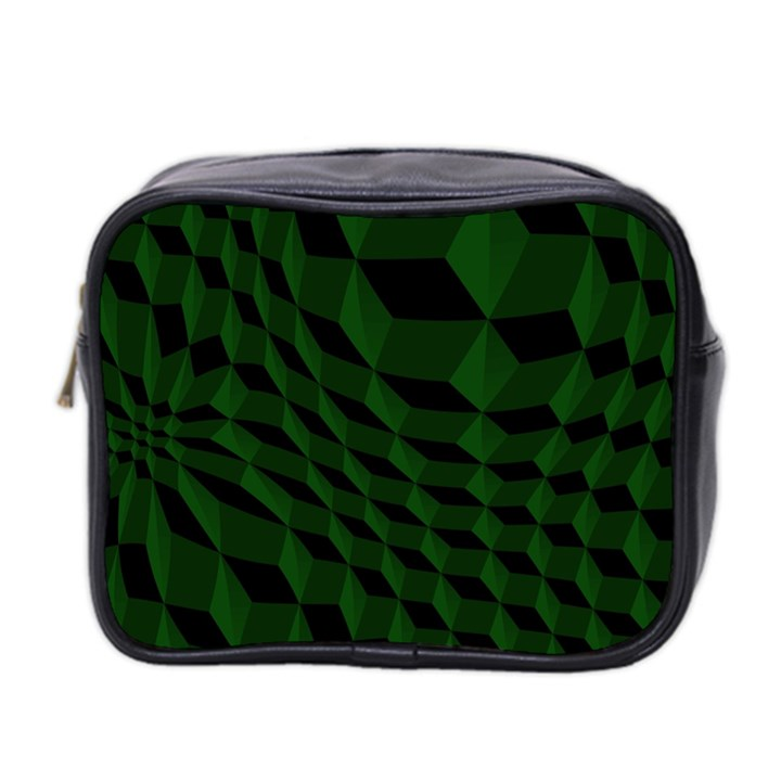 Pattern Dark Texture Background Mini Toiletries Bag 2-Side