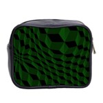 Pattern Dark Texture Background Mini Toiletries Bag 2-Side Back