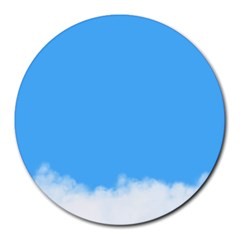 Sky Blue Blue Sky Clouds Day Round Mousepads