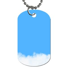 Sky Blue Blue Sky Clouds Day Dog Tag (two Sides)