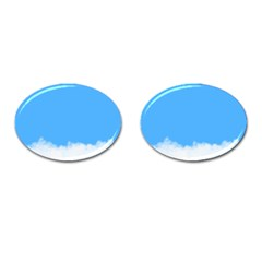 Sky Blue Blue Sky Clouds Day Cufflinks (oval)