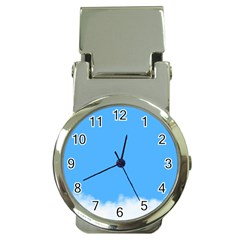 Sky Blue Blue Sky Clouds Day Money Clip Watches