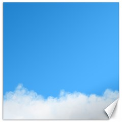 Sky Blue Blue Sky Clouds Day Canvas 16  X 16