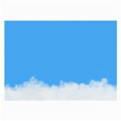 Sky Blue Blue Sky Clouds Day Large Glasses Cloth (2 Side)