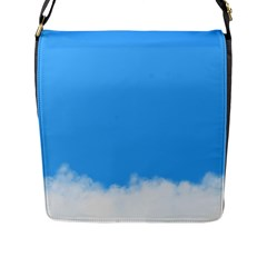 Sky Blue Blue Sky Clouds Day Flap Messenger Bag (l)
