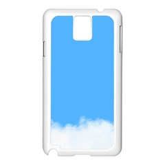 Sky Blue Blue Sky Clouds Day Samsung Galaxy Note 3 N9005 Case (white)