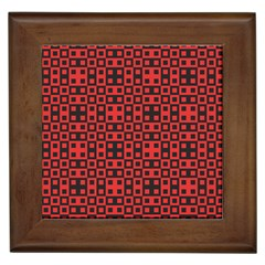 Abstract Background Red Black Framed Tiles by BangZart