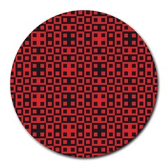 Abstract Background Red Black Round Mousepads