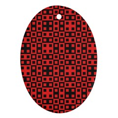 Abstract Background Red Black Ornament (oval)
