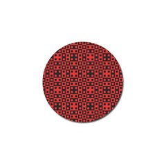 Abstract Background Red Black Golf Ball Marker by BangZart