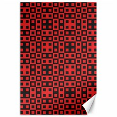 Abstract Background Red Black Canvas 20  X 30