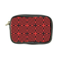 Abstract Background Red Black Coin Purse