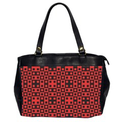 Abstract Background Red Black Office Handbags (2 Sides)