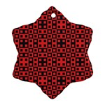Abstract Background Red Black Ornament (Snowflake) Front