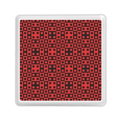 Abstract Background Red Black Memory Card Reader (square)