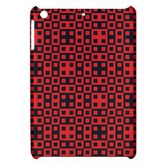 Abstract Background Red Black Apple Ipad Mini Hardshell Case