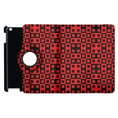 Abstract Background Red Black Apple Ipad 2 Flip 360 Case