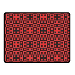 Abstract Background Red Black Double Sided Fleece Blanket (small)  by BangZart
