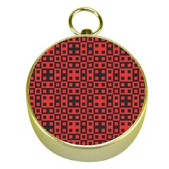 Abstract Background Red Black Gold Compasses