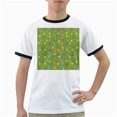 Balloon Grass Party Green Purple Ringer T Shirts