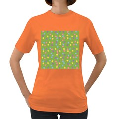 Balloon Grass Party Green Purple Women s Dark T Shirt