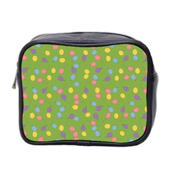 Balloon Grass Party Green Purple Mini Toiletries Bag 2 Side