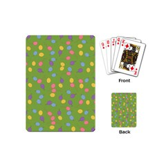 Balloon Grass Party Green Purple Playing Cards (mini)