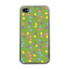 Balloon Grass Party Green Purple Apple Iphone 4 Case (clear)