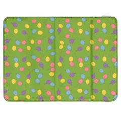 Balloon Grass Party Green Purple Samsung Galaxy Tab 7  P1000 Flip Case by BangZart