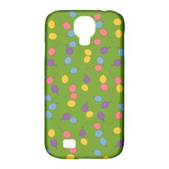 Balloon Grass Party Green Purple Samsung Galaxy S4 Classic Hardshell Case (pc+silicone) by BangZart
