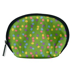 Balloon Grass Party Green Purple Accessory Pouches (medium)