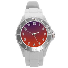 Course Colorful Pattern Abstract Round Plastic Sport Watch (l)