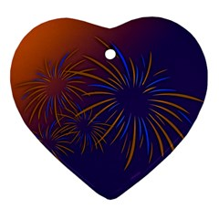 Sylvester New Year S Day Year Party Ornament (heart)