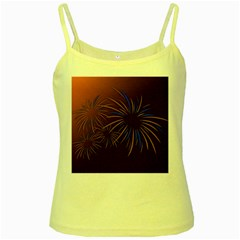 Sylvester New Year S Day Year Party Yellow Spaghetti Tank