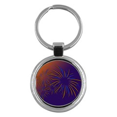 Sylvester New Year S Day Year Party Key Chains (round)